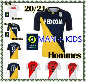 MAN KIDS KIT 2020/2021 AS Monaco Soccer Jersey 2021 # 9 Ben Yedder # 10 Jovetic Футбольная форма № 17 Головина # 4 Fabregas # 25 Glik Футбольная рубашка