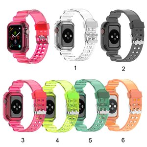 Newest Sport Strap for Apple Watch 5 4 3 2 1 Bands Silicone Transparent for Iwatch 5 4 Strap 38mm 40mm 42mm 44mm wholesale