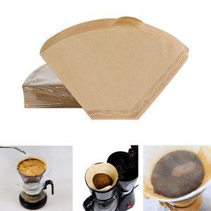100pieces Eco-friendly greggi registro 102 del filtro originale in legno caffè mano Drip Paper Coffee Brewer Macchina caffè Accessori