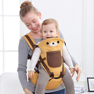 Cartoon bear baby sling newborn newborn baby front horizontal multifunctional holding baby artifact waist stool strap