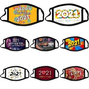 2021 Mode Nouvel anti-poussière Christmas Adulte Enfants Happy Masque Happy Coton Neuf Essayable Année Face Fête Masques Design Mode PM2