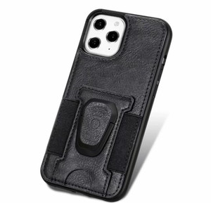 2020 Pu Leather Phone Case Cover With Magnetic Ring Bracket Stand Holder For Iphone 11 12 Pro Max Xs Max jlllLK dhzlstore