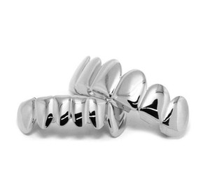 New Hip Hop Gold Teeth Grillz Top & Bottom Dental Grills Mouth Punk Teeth Caps Cosplay Party Toot jllEyQ bde_jewelry