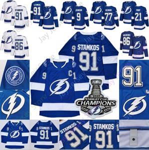 Tampa Bay Lightning 2020 Stanley Cup Jersey Nikita Kucherov Steven Tyler Stamkos Johnson Brayden Point Victor Hedman Mulheres Juventude Men