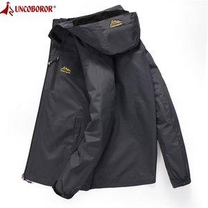 Men's Casual Waterproof Jacket Spring Autumn Tourism Windbreaker Bomber Jacket Male Raincoat Windproof Hooded Coat 4XL 201013