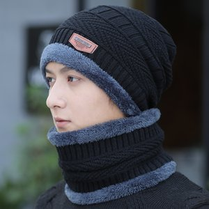 Womens ispessito Hat Mens inverno più Fluff cappello lavorato a maglia di lana in bicicletta Cap trendy caldo coreano esterna Cappello Bandana copertura di stile