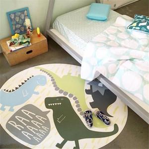 Детские ковер круглые детские ползучие игры коврик диаметр 120 см динозавров кролик детские ковры мягкие пола нескользящие одеяла для питомника LJ201113