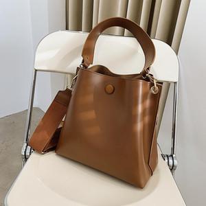 Cross Body High-End Retro Bucket Bag 2021 Модная атмосфера Женский дизайнер One-плечо подмышечный посланник