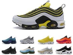 2018 Top Max Running 97 97s Plus Scarpe Outdoor Donna Uomo Nero Giallo Champagne oro Sneakers da ginnastica Chaussure TN Running Sports taglia 36-45