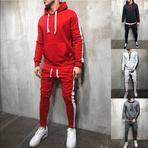 Zogaa 2019 Hot Sale Men's Casual Hoodies Sets Fashion Color Block Tracksuit for Men Sweatsuit Male Outfit Sportswear Jogger Set
