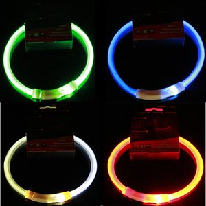 USB Charge Pets Dog Collar LED Outdoor Luminous Safety Pet Dog Collars Light Adjustable LED Flashing Puppy Collar Pet Supplies