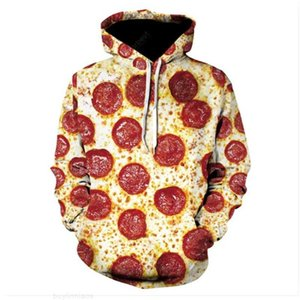 printing girl 3D 2020 cartoon Pullover pizza Hooded Sweater men's jacket design