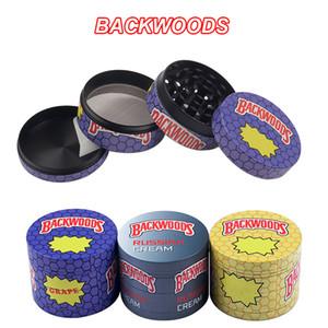 BACKWOODS Grinders Zinc Alloy 4 Layers 40mm 50mm 55mm 63mm Diameter Grinders Tobacco Slicer Herb Grinders Smoking Accessories GR303
