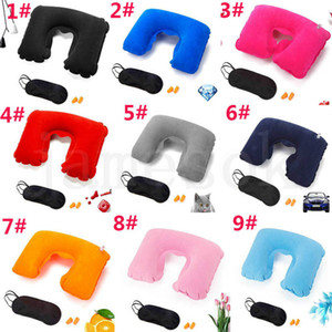11 style Inflatable U Shape Pillow for Airplane Travel inflatable Neck Pillow Travel Accessories Pillows for Sleep air cushion pillows dc665