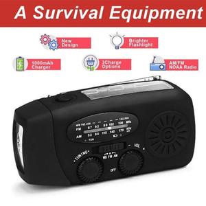 1000mAh Solar Radio Emergency Radio AM FM WB Weather Hand Crank With 3 LED Power Bank1