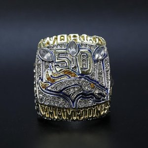 Fine Wholesale New Super Bowl 2015 Mustang Championship Ring Fashion Accessories men ring