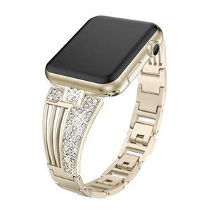 Crystal For  apple watch band 38mm 42mm 40mm 44mm Band For iWatch Series 4 5 Stainless Steel bracelet apple watch strap