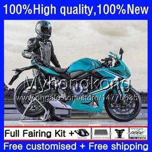 Bodywork For HONDA CBR 650F CBR650F 11 12 13 2014 2015 53HM.82 CBR650 F CBR-650F Glossy cyan CBR 650 F 2011 2012 2013 14 15 16 Fairing kit