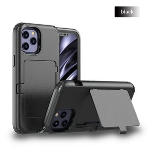 For LG Stylo 6 5 Triple Protection Built In Card Mirror Design Phone Case Cover With Kickstand Funtion Comfortable Feel