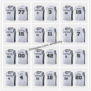 men San SpursAntonioAldridge 5 Murray 20 Ginobili 22 Gay basketball jerseys LaMarcus Dejounte Manu Rudy association jersey