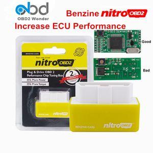 10 Pcs Lot Nitroobd2 Ecoobd2 Plug & Drive OBD2 Performance Chip Tuning Box For Benzine Gasoline Cars Nitro OBD2 Plug More Power