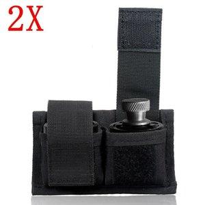 2x 블랙 리볼버 더블 스피드 로더 파우치 허리 저장 부대 .22 .38 .357 .45