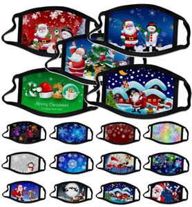 US-amerikanische Vorrat Neue Mode Gesichtsmasken Erwachsene Weihnachten Gesichtsmaske Schneeflocke Tierölgemälde 3D Masken Staubdichte und Anti-Smog-Druckmasken