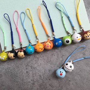 Kawaii Bell Phone Straps Cute Anime Lucky Cat Charm Pendant For iPhone Accessories Mobile Phone Straps Novelty Diy Keychain