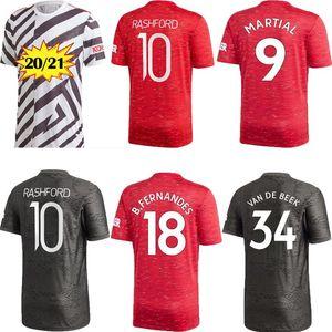 Player Ventilator 20 21 FC Manchester zu Hause weg vereint SANCHO FERNANDES Fußball Jersey UTD 2020 2021 Pogba Fußballhemd schwarzen Uniformen Rashford