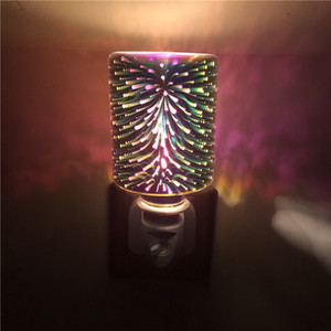 Explosif 3D Colory Aromathérapie Cire Feu de fusion Night Instern Creative Aromathérapie sans fumée Désodorisant Lampe de fusion de la cire
