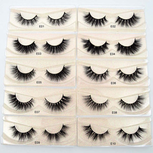 Hot selling real mink fur eyelashes 3d mink lashes with private label Cruelty Free Eyelashes Vendor