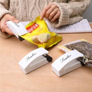 Mini portátil de presión de calor sellado de la máquina Viajes mano del hogar de sello adhesivo de impacto Herramientas de embalaje bolsa de plástico de alimentos de ahorro de almacenamiento VT1919
