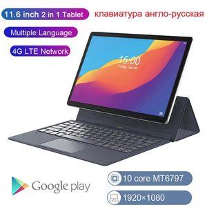 Tablet PC Google Play Store 4G LTE 2 in 1 11,6 Zoll Laptop 1920x1080 Android GPS mit Tastatur 13MP Kamera 8000mAh1