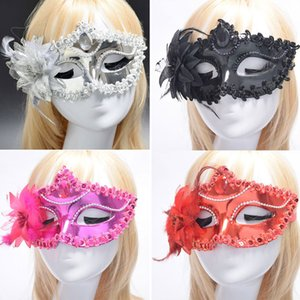 Halloween mask ball half face Venice princess masquerade mask female party show lace mask steel factory outlet