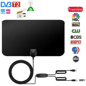 [بقعة] هوائي داخلي مصغرة 4K 25DB HD TV DTV مربع الرقمية التلفزيون الهوائي 50 ميل الداعم HD 1080P الهوائي الداخلي
