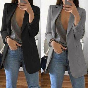 Vestes Femmes Femmes manches longues Solide Blazer Slim Blazer Bureau Dames Travail Formel Veste élégante