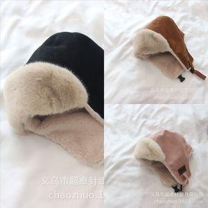 Otyo 2020 kalter winter mao lei feng mao warmhut kinder mink haar ohr schutz li Feng