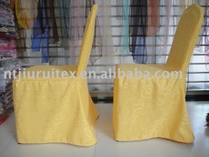 Top Quality Jacquard Damask Thick Customized Chair Cover for Hotel