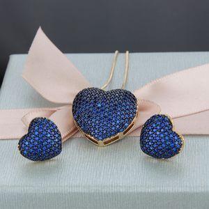 Женщины Прекрасные Ювелирные Изделия Набор Золотая Посеребренная Bling CZ Diamond Камень Серьги Серьги Серьги Ожерелье Набор для Девочек Женщины Приятный подарок для партии Свадьба