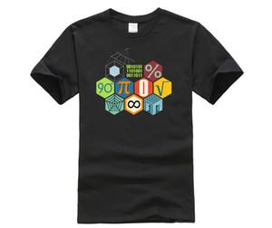Moda verão Phiking Imprimir Sólidos divertido dos desenhos animados Professor shirt do verão Estilo Hot Phiking Design Matemática TShirt moletom com capuz Hoodie homens t