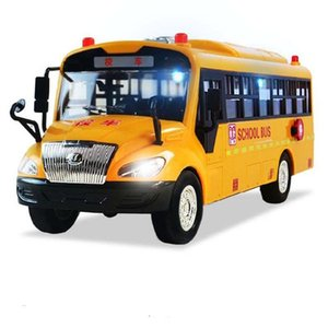 High Bus Big Quality School Size Children Model Inertia Car with Sound Light for Kids Toy