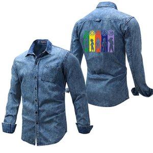 Весна осень мужские и женщин джинсовой куртки Заказной Logo Printed Сыпучие Denim пальто для Mens Casual Coat Dropshipping