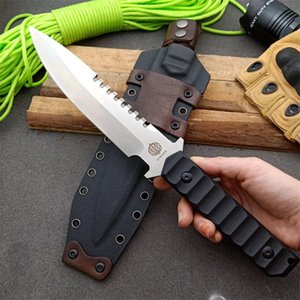 High End OEM Strider Survival Straight Knife DC53 Drop Point Satin Blade Full Tang G10 Handle Knives With Kydex