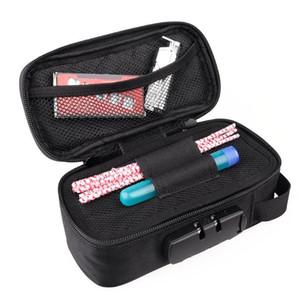 20x10x7.2cm Proof Odeur durable Sac avec verrouillage Inodore Stash coffret de rangement Accessoires Fumeurs Container Set pour la maison Voyage