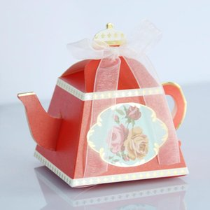 Teapoea Cup Shape Candy Boxes Wedding Gifts Party Favors For Guests Bridal Birthday Baby Shower Party Decoration