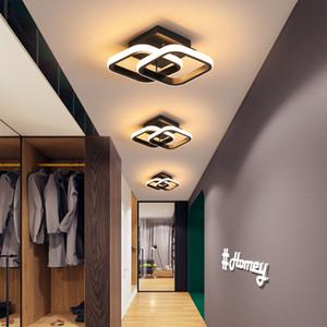 Modern Corridor Ceiling Light Balcony Lights Bedroom Lamp Aluminun Ceiling Lighting Fixture Black&White Small Led Ceiling Light