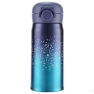 Bounce Lid Portable School Student Gift Mug Bottle Stainless Steel Starry Sky Vacuum Thermal cup