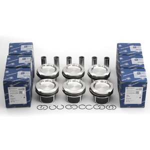 Free shipping 6-Pack Pistons & Rings Set 84mm For BMW E82 E90 E60 135i 335i 535i 740i N54B30