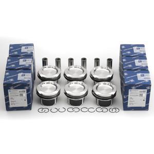 Free shipping 6-Pack Pistons & Rings Set 84mm For BMW E82 E90 E60 135i 335i 535i 740i N54B30