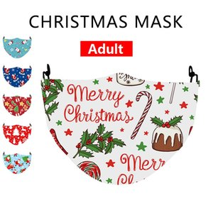 christmas mask  Gingerbread man santa facemask masque christmas decorations adult face masks mascherina cotton mask With 2 filter